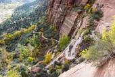 Switchback hiking trail — Stock Photo
