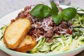Zucchini pasta dish — Stock Photo
