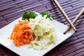Fermented carrots and cabbage  — Stock Photo