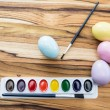 Painting easter eggs — Stock Photo #60791881