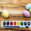 Painting easter eggs — Stock Photo #60800477