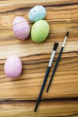 绘画的复活节彩蛋 — 图库照片