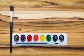 Art paints on a table  — Stock Photo