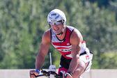 Dean Pappas no evento de ciclismo no Ironman Coeur d Alene — Fotografia Stock