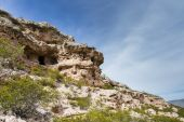 Cliff dwellings — Stock Photo