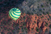 Hot air balloon ride in Sedona — Zdjęcie stockowe