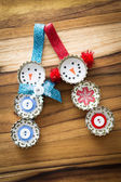 Homemade recycled ornaments  — Stock Photo