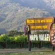 Napa Valley welcome sign — Stock Photo #77798494