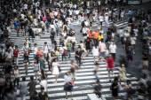 Multidão de Tóquio — Fotografia Stock