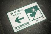 Tsunami evacuation — Stock Photo