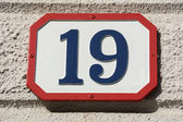 Number nineteen — Stock Photo