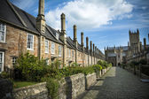 Vicars Close and Wells cathedral — Stock Photo