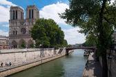 Paříž - Francie, řeku Seinu — Stock fotografie