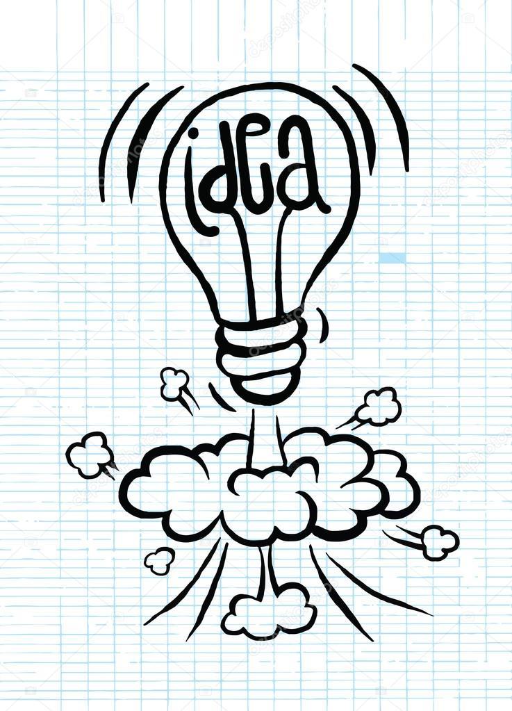 main dessin d illustration vectorielle d ampoule id e. Black Bedroom Furniture Sets. Home Design Ideas