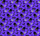Halloween Seamless Pattern Background : Vector Illustration — Stock Vector