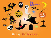 Halloween characters : High resolution jpeg included. — Stock Vector