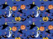 Halloween Seamless Pattern Background : Vector Illustration — Stockvector
