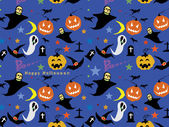 Halloween Seamless Pattern Background : Vector Illustration — Vettoriale Stock