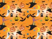 Halloween Seamless Pattern Background : Vector Illustration — Stock Vector