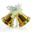 Gold Christmas Bells isolated on white — Stock Photo #59587217