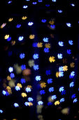 Multicolour bokeh flower shape — Stock Photo