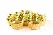 Stack of Chinese Gold Ingots on White — Fotografia Stock