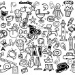 Big Vector Doodle Icons Universal Set — Stock Vector #70135485