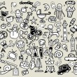 Big Vector Doodle Icons Universal Set — Stock Vector #70135527