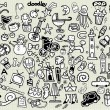 Big Vector Doodle Icons Universal Set — Stock Vector #70135619