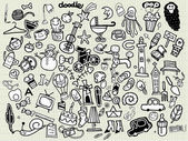 Big Vector Doodle Icons Universal Set — Stock Vector