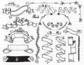 Hand Drawn Vintage Label  — Stock Vector
