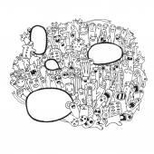 Hipster ručně kreslenou vektorové doodle. — Stock vektor
