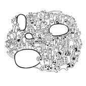 Hipster Hand dras vektor doodle. — Stockvektor