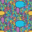Seamless pattern with Hipster Hand drawn Vector doodle. — Stock Photo #74167661