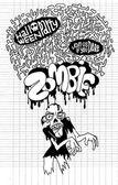 Cadılar Bayramı zombi partisine davet Poste — Stok Vektör