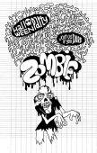 Halloween Zombie Party invitation Poste — Stock Vector