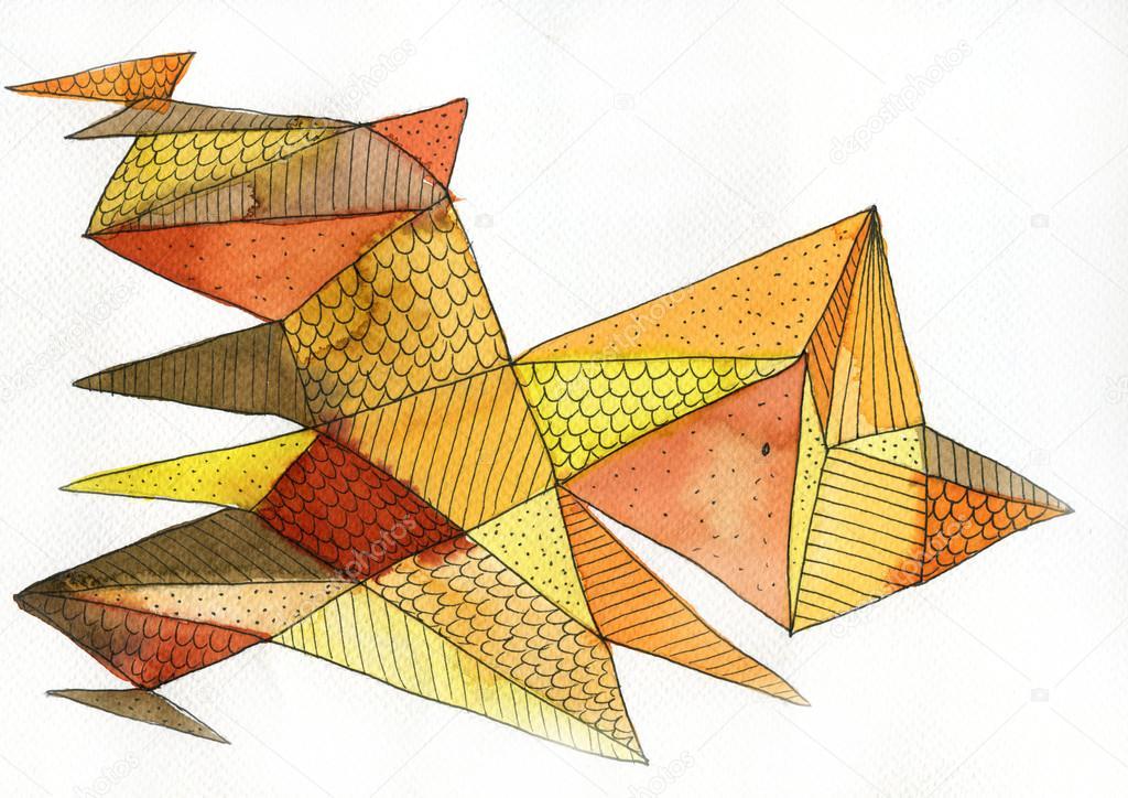 Картина-сказка из оригами