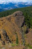 Erkek doğum günü zammı kayalık uçurum izinde — Stok fotoğraf