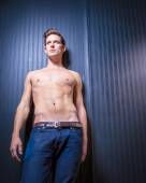 Muscular Toned Caucasian Male — Stock Photo