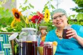 Woman Sips Sweet Tea — Stock Photo