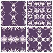 Simple monochrome seamless patterns. — Vettoriale Stock