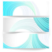 Set of abstract horizontal banners. — Stock Vector