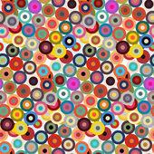 Pattern with  multicolor circles — Vecteur