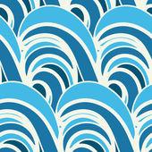 Naadloze patroon in doodle stijl — Stockvector