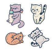 Funny cartoon kittens — Stock Vector