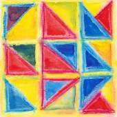 Watercolor  geometric background — Stock Vector