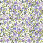 Patrón de flores acuarela — Vector de stock