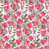 Watercolor roses pattern — Vetor de Stock