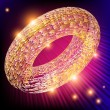 Bright glowing ring background. — Stock Vector #75208017