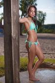 Beach Brunette — Stock Photo